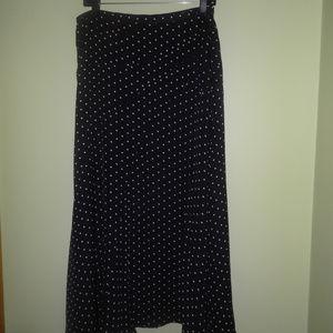 Jones New York Fit and Flare Polka Dot Skirt
